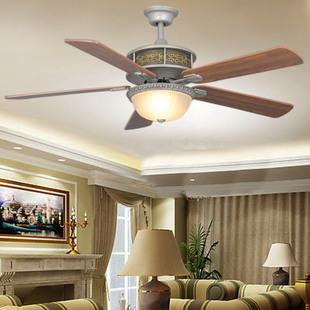 波西米亚灯具中式吊扇灯木质叶奢华餐厅卧室客厅风扇