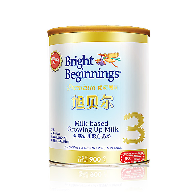 旭贝尔(Bright Beginnings) 乳基幼儿配方奶粉3段 900g