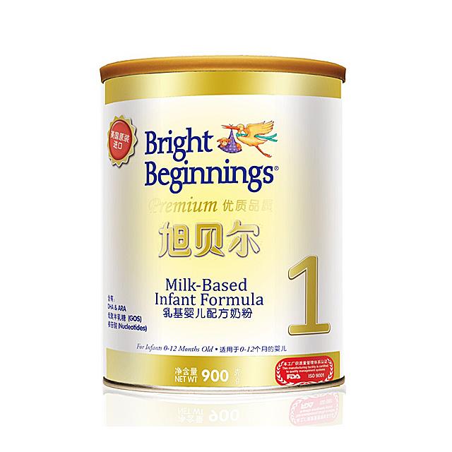 旭贝尔(Bright Beginnings) 乳基婴儿配方奶粉1段 900g