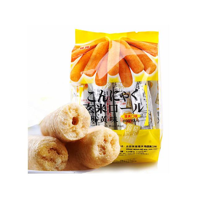 北田 蒟蒻糙米卷 蛋黄 160g ×5袋(台湾)