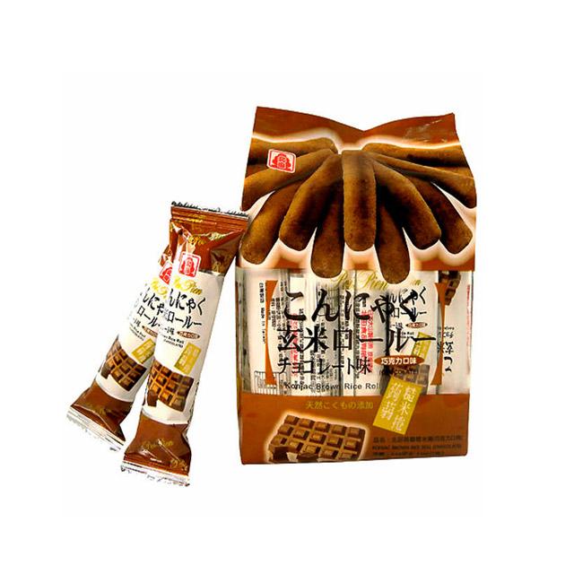 北田 蒟蒻糙米卷 巧克力 160g ×5袋(台湾)