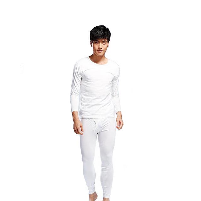 恒源祥 男款保暖内衣套装 8612 白色