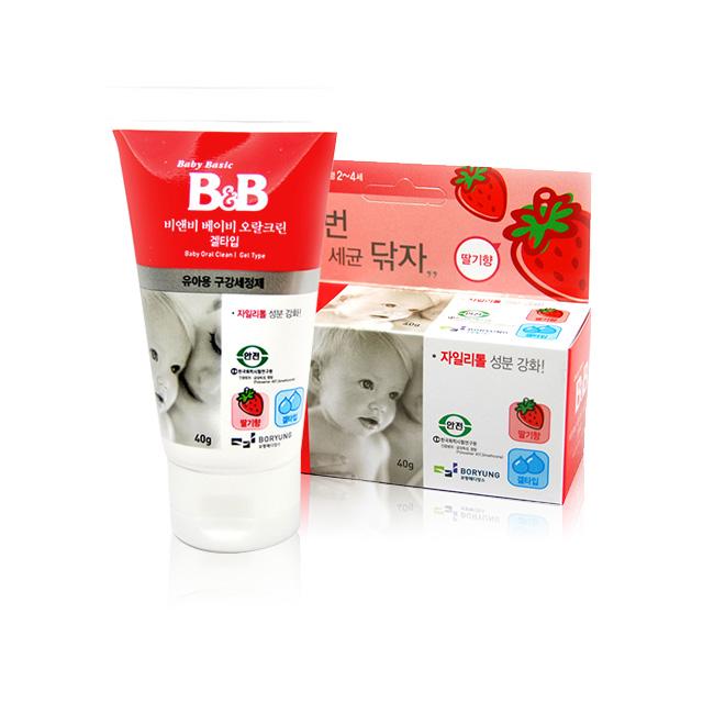 保宁 婴儿口腔清洁剂(草莓) 40g