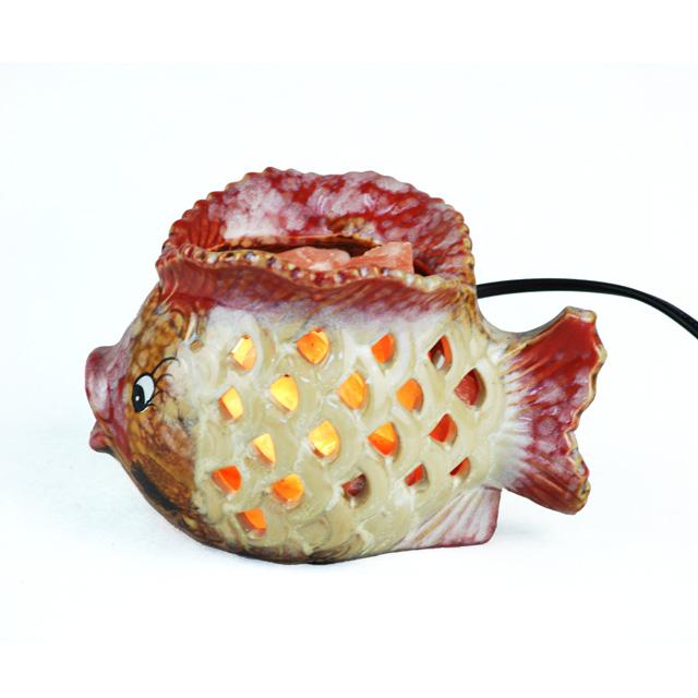 瑞鳞祥 发财鱼(小)水晶盐灯