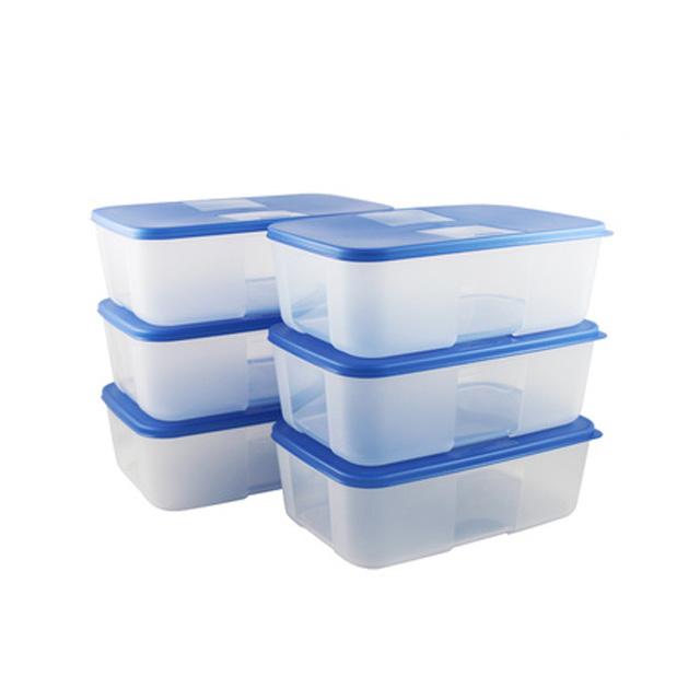 特百惠(Tupperware) 冰鲜冷冻保鲜套装6件套 可冷冻保鲜