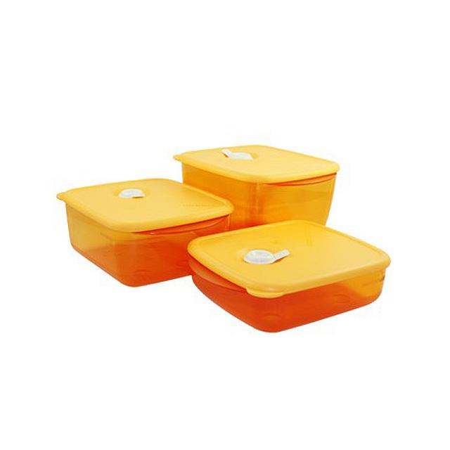 特百惠(Tupperware) 晶彩大合奏方盒6件套 可微波加热