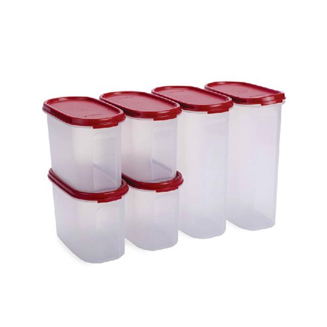 特百惠(Tupperware) MM椭圆储藏保鲜套装6件套 可冷藏保鲜