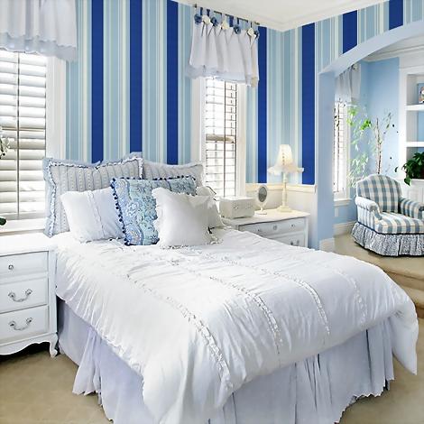 墨绿色欧式壁纸 卧室