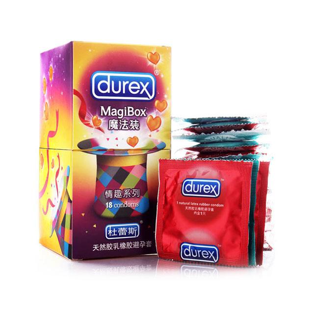 杜蕾斯(Durex) 避孕套魔法装情趣系列(凸点螺纹5只+凸热5只+凸凉5只+草莓3只)