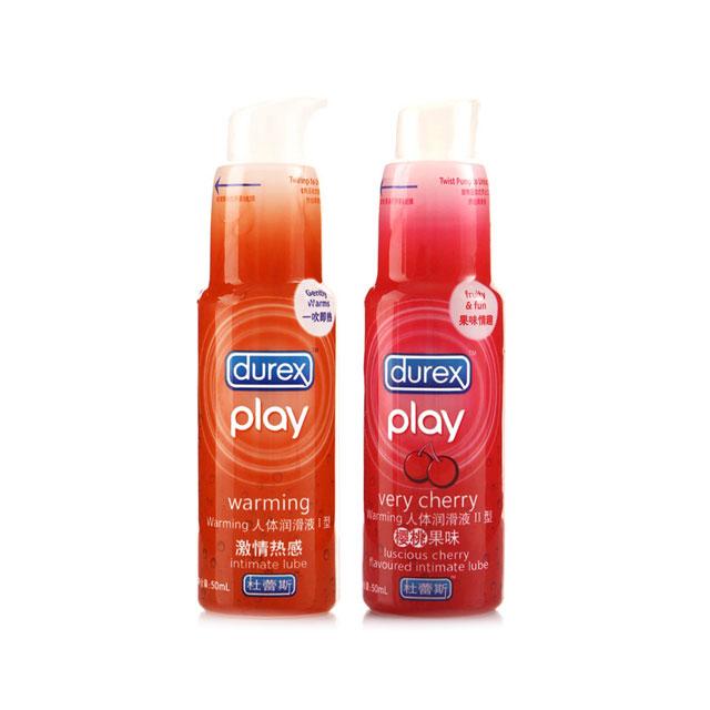 杜蕾斯(Durex) 人体润滑液剂(热感装)50ml+(樱桃味)50ml