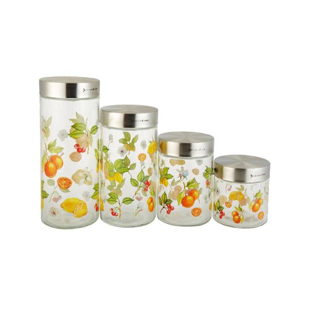 居元素(SENSE) 乐果缤纷 储物罐4件套 N9446840(钢盖改进版)