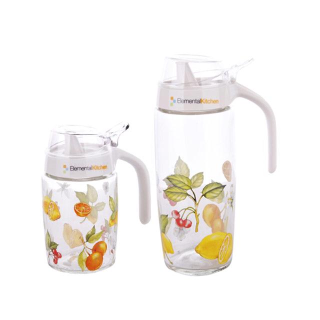 居元素(SENSE) 乐果缤纷 液体调味瓶/不挂壁油壶2件套 N85921840
