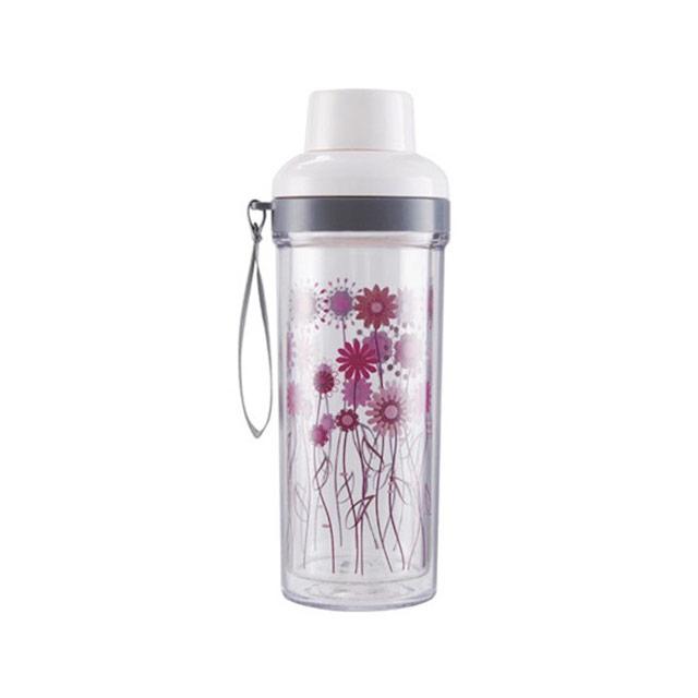 居元素(SENSE)  花儿朵朵 双层水晶芯玻璃随身杯 N66861B88 450ml