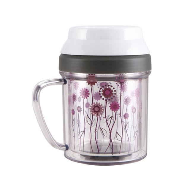 居元素(SENSE)  花儿朵朵 双层水晶芯玻璃马克杯 N66891B82 450ml