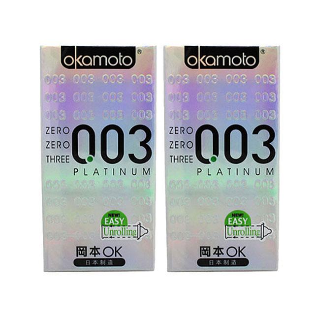冈本(Okamoto) 003系列安全套 0.03mm白金超薄10只×2盒