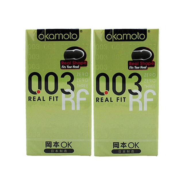 冈本(Okamoto) 003系列安全套 0.03mm黄金超薄10只×2盒