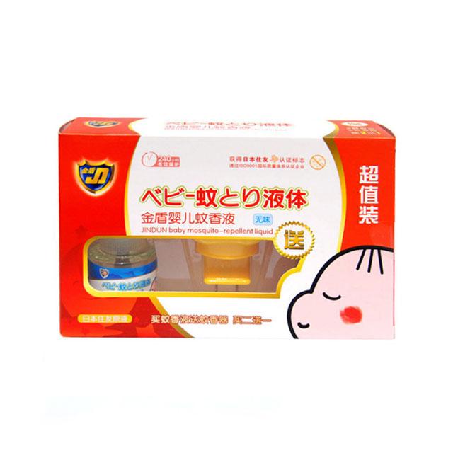 金盾 婴儿蚊香液(无味) 2瓶超值装 45ml×2 (送蚊香器)