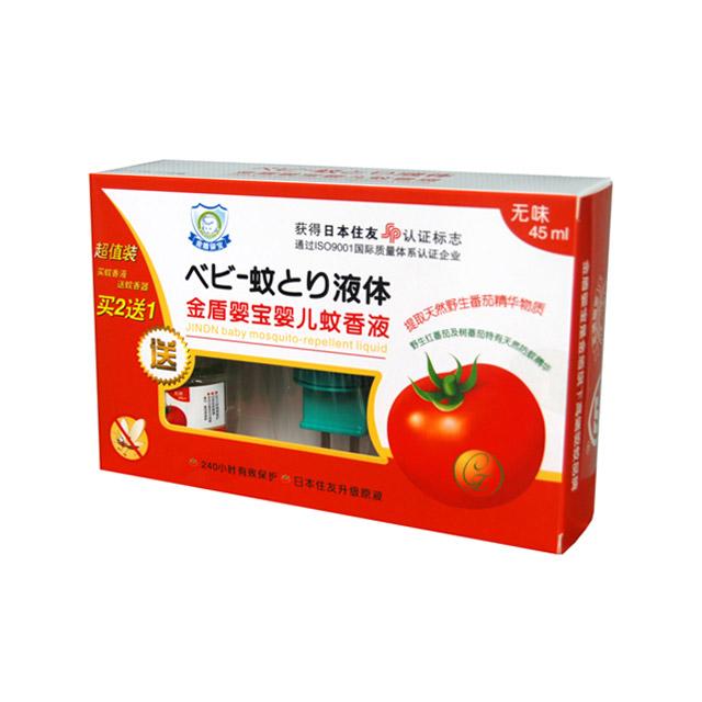 金盾婴宝 婴儿蚊香液(无味) 2瓶超值装 45ml+45ml(送加热器)
