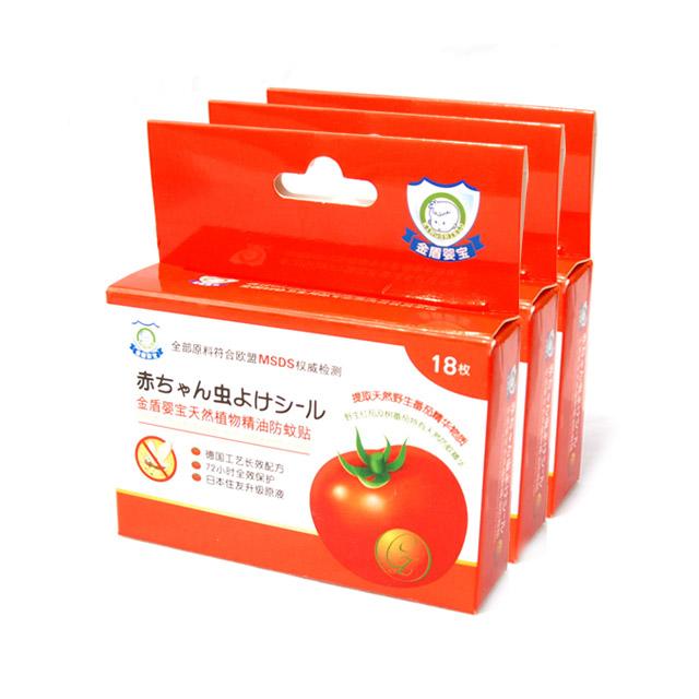 金盾婴宝 天然植物精油防蚊贴 18枚 ×3盒