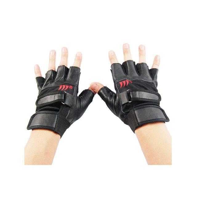 卡思特 纯皮男士小护腕健身手套/半指器械防滑手套/运动手套 LB-17