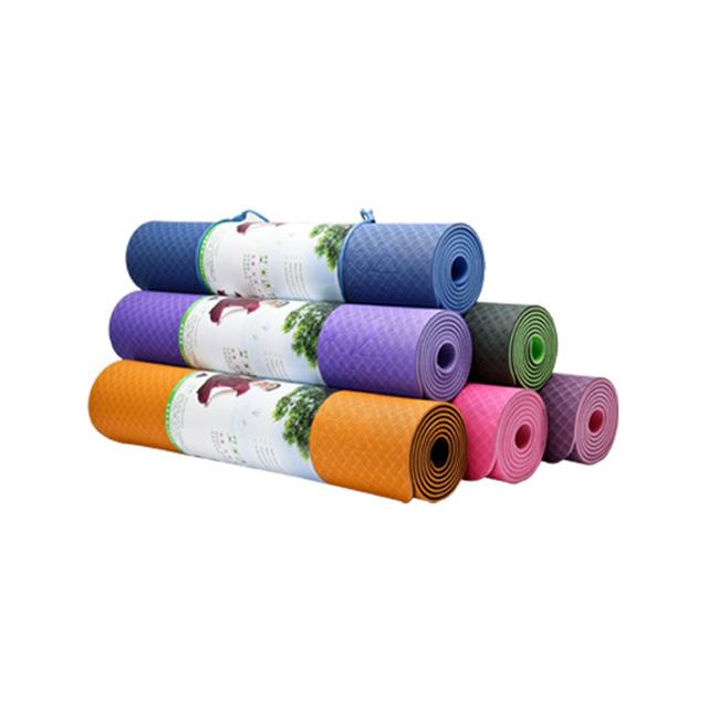 卡思特 TPE健康环保无毒瑜伽垫/健身毯(防滑加厚) 6mm
