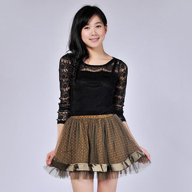 艾莲达(AILANDA) 甜美碎花纱裙短裙 ABF3118