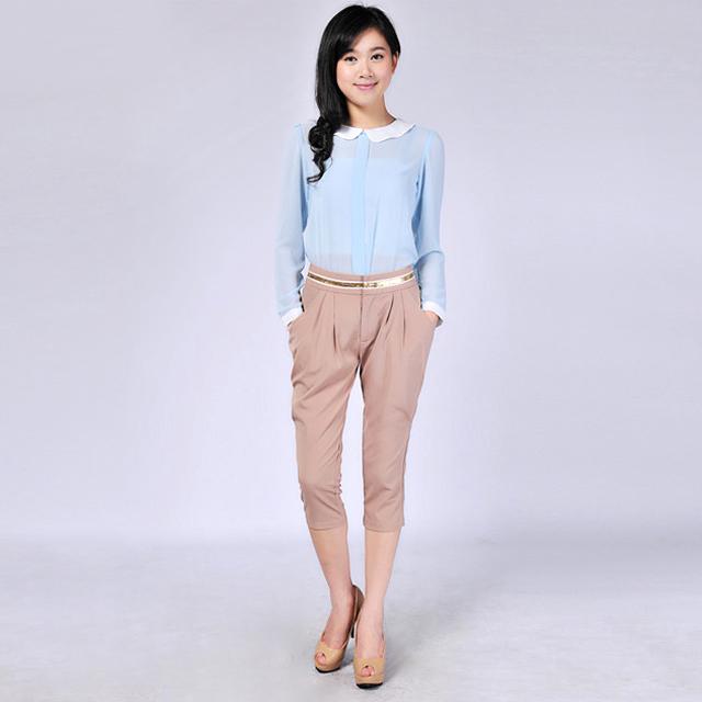 艾莲达(AILANDA) 韩版OL气质百搭七分短裤 ABE2342-1