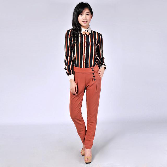 艾莲达(AILANDA) 韩版显瘦通勤小脚西裤长裤  ABE3220