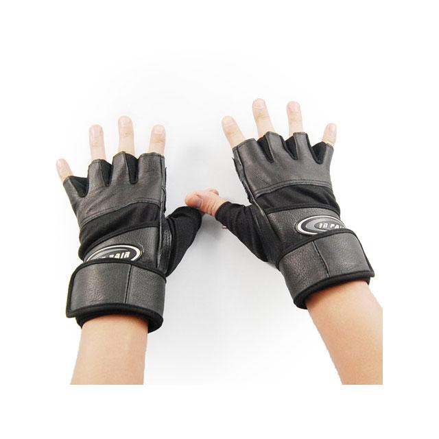 卡思特 纯皮耐磨超长护腕专业健身手套/运动手套 LB-19