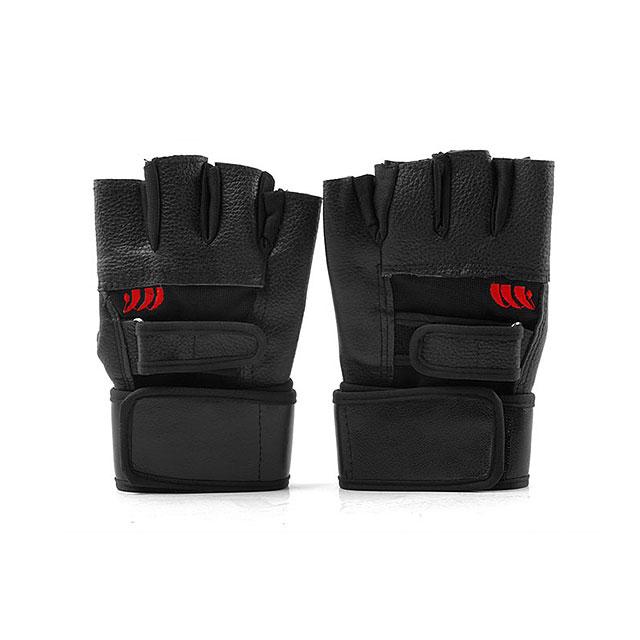 卡思特 纯皮耐磨加长护腕专业健身手套/器械手套 LB-18