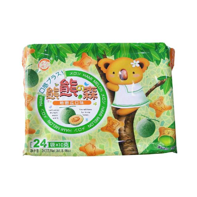 品味本铺 熊熊森哈密瓜灌心饼 240g ×3袋