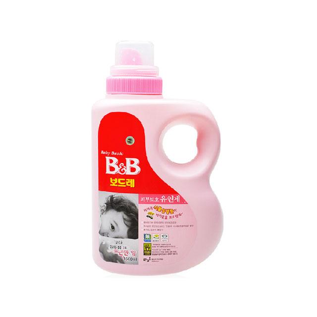 保宁(B&B) 纤维柔顺剂(柔和香瓶装) 1500ml