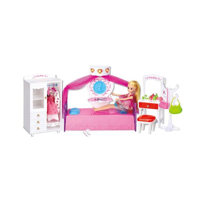 乐吉儿(Lelia) 梦幻房间芭比娃娃女孩玩具套装礼盒 A001