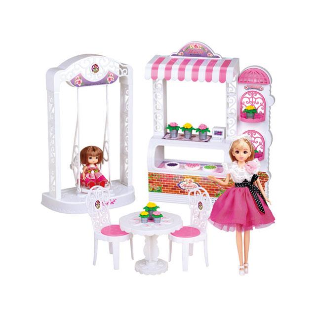 乐吉儿(Lelia) 蛋糕花店芭比娃娃女孩玩具套装礼盒 A009