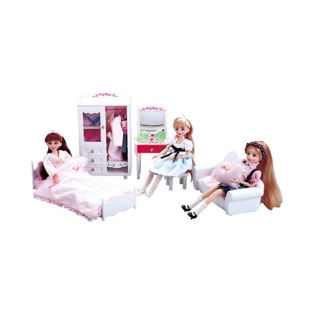 乐吉儿(Lelia) 新版梦幻房间芭比娃娃女孩玩具套装礼盒 H21B