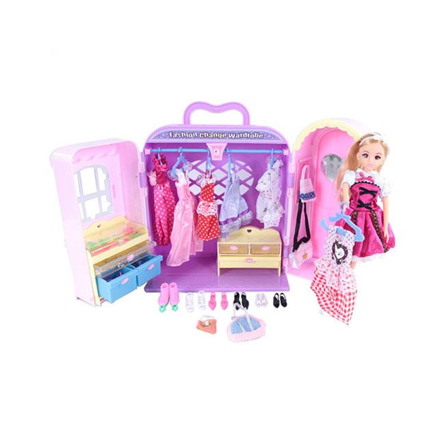 乐吉儿(Lelia) 梦幻衣柜芭比娃娃女孩玩具套装礼盒 H21C