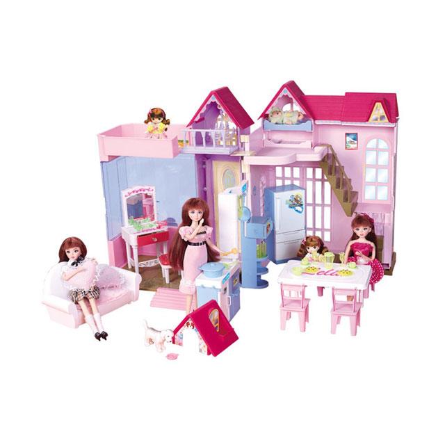 乐吉儿(Lelia) 梦幻甜蜜家园芭比娃娃女孩玩具套装礼盒 H22B