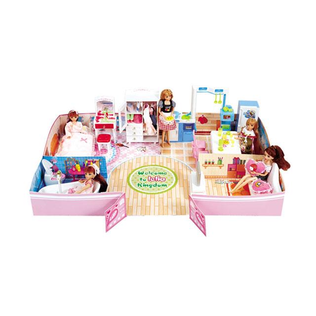 乐吉儿(Lelia) 梦幻温馨家居芭比娃娃女孩玩具套装礼盒 H23A