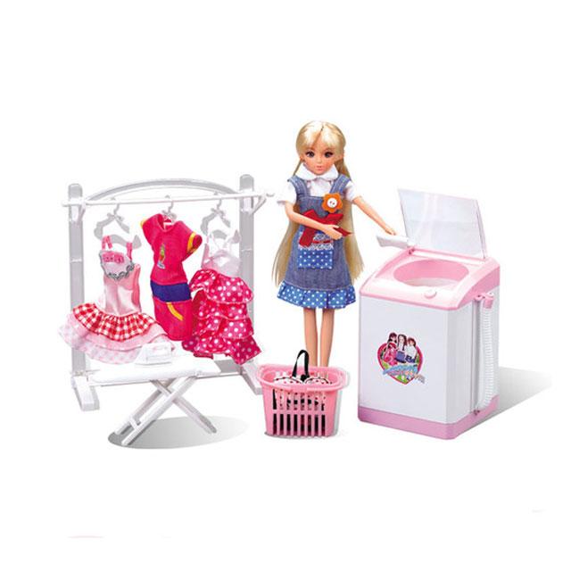乐吉儿(Lelia) 梦幻洗衣机芭比娃娃女孩玩具套装礼盒 H23C