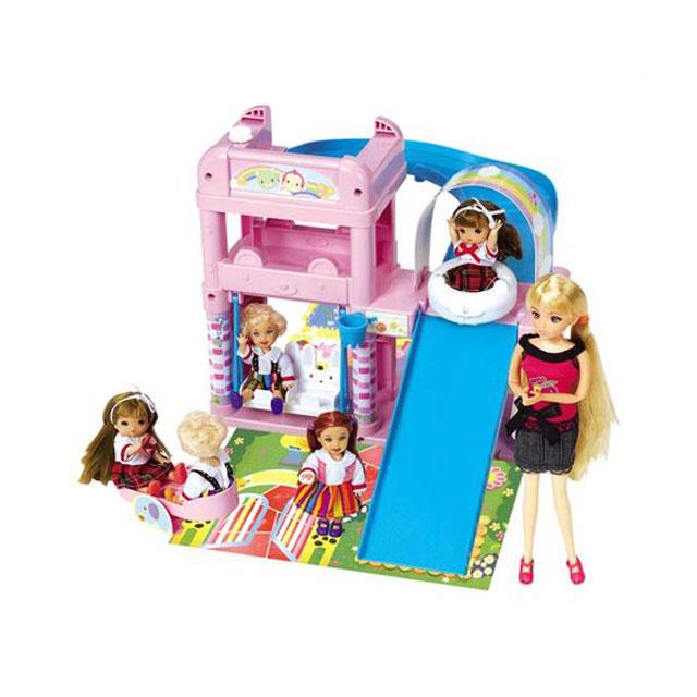 乐吉儿(Lelia) 梦幻游乐场芭比娃娃女孩玩具套装礼盒 H24A