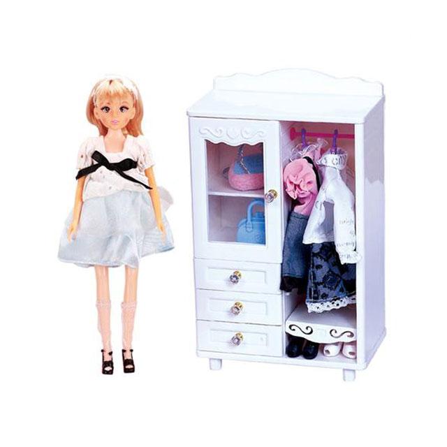 乐吉儿(Lelia) 梦幻房间芭比娃娃女孩玩具套装礼盒 H26A-1(梦幻衣柜)