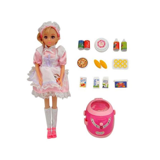 乐吉儿(Lelia) 梦幻小厨房系列电饭锅模式芭比娃娃女孩玩具礼盒 H27A-2