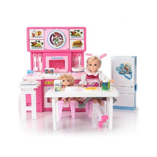 乐吉儿(Lelia) 梦幻大厨房芭比娃娃女孩玩具套装礼盒 H28A