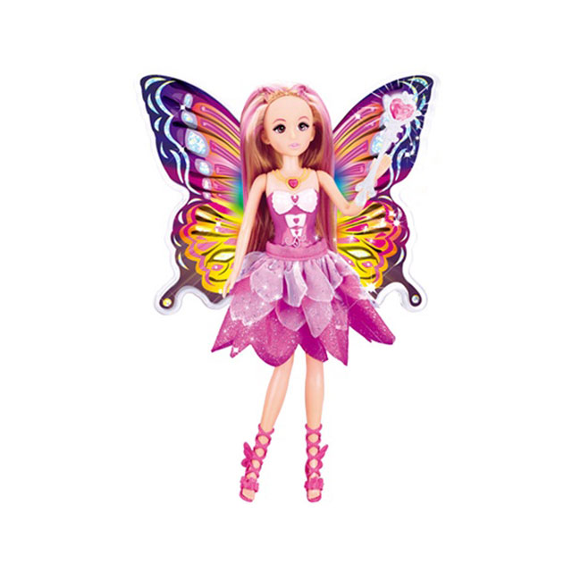 乐吉儿(Lelia) 梦幻蝴蝶仙子甜心芭比娃娃女孩玩具礼盒 H28C
