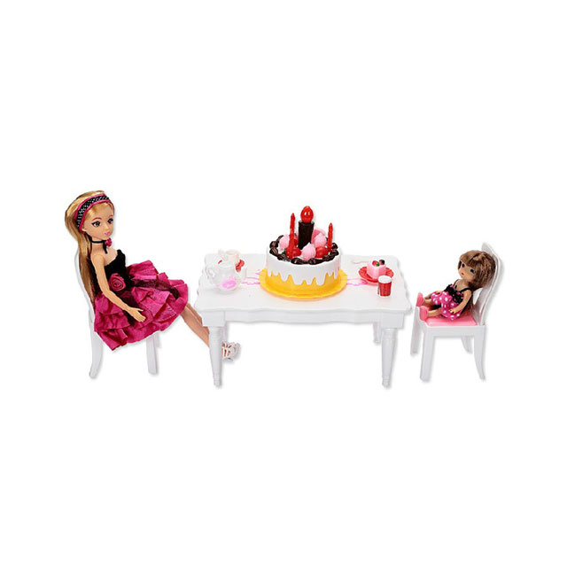 乐吉儿(Lelia) 生日派对芭比娃娃女孩玩具套装礼盒 H29B