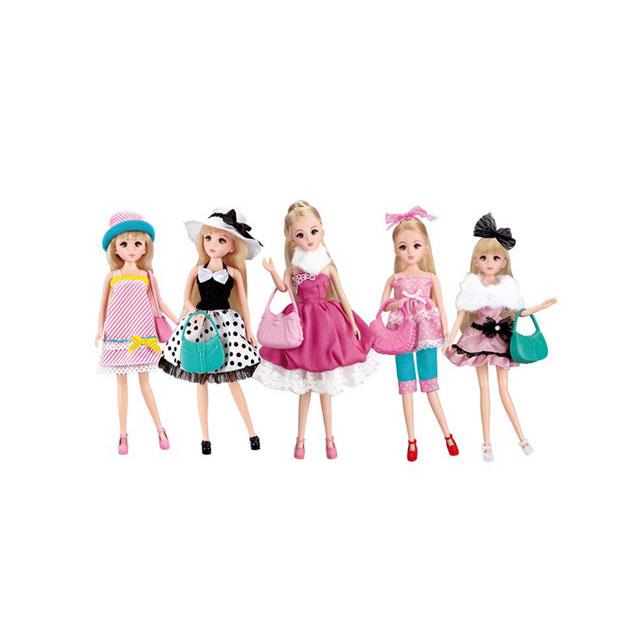 乐吉儿(Lelia) 时尚换装芭比娃娃梦幻衣橱套装礼盒 H30B(五套精美时装)