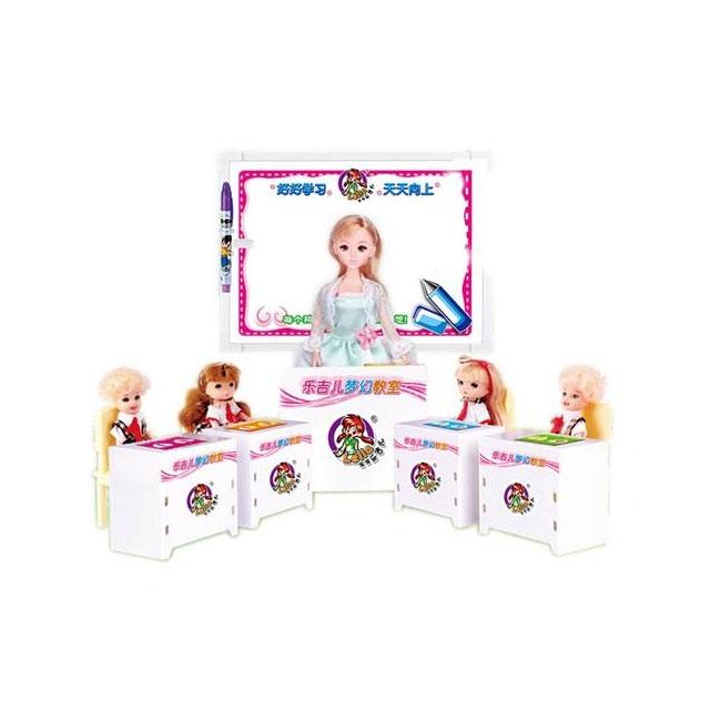 乐吉儿(Lelia) 梦幻教室芭比娃娃女孩玩具套装礼盒 H31B