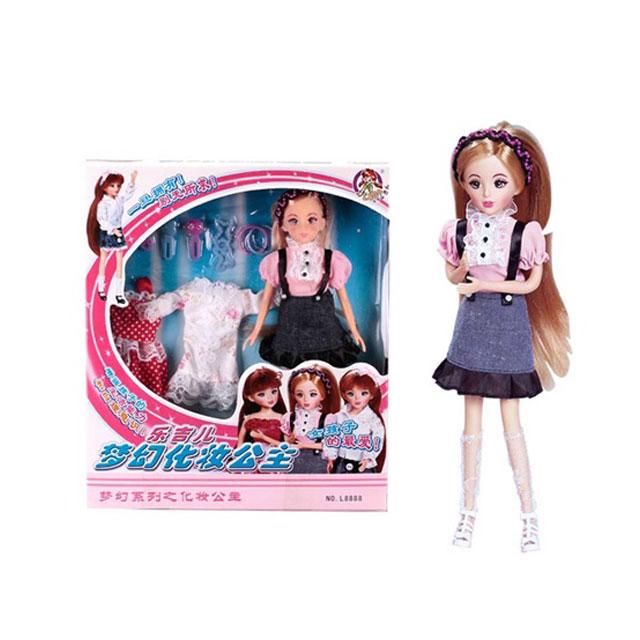 乐吉儿(Lelia) 梦幻化妆公主芭比娃娃家庭组合套装礼盒 L8888A