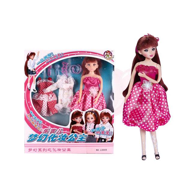 乐吉儿(Lelia) 梦幻化妆公主芭比娃娃家庭组合套装礼盒 L8888B