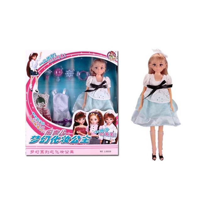 乐吉儿(Lelia) 梦幻化妆公主芭比娃娃家庭组合套装礼盒 L8889C